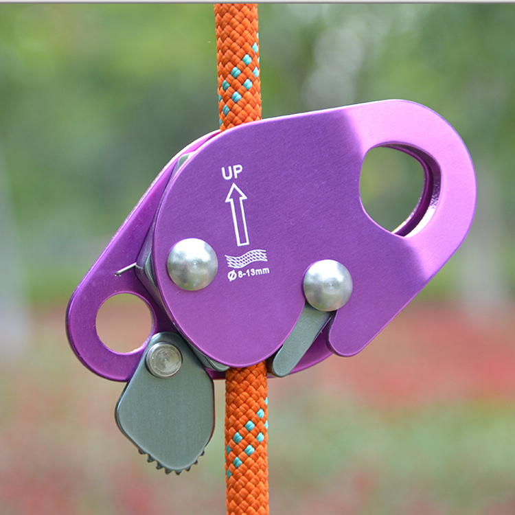 Outdoor Aluminum Rock Climbing Gear ROPE GEAR  Rope Grab for  mountaineering,  Fire Rescue, aloft work xinda professional handle pulley roller gear outdoor rock climbing tyrolean traverse crossing weight carriage device