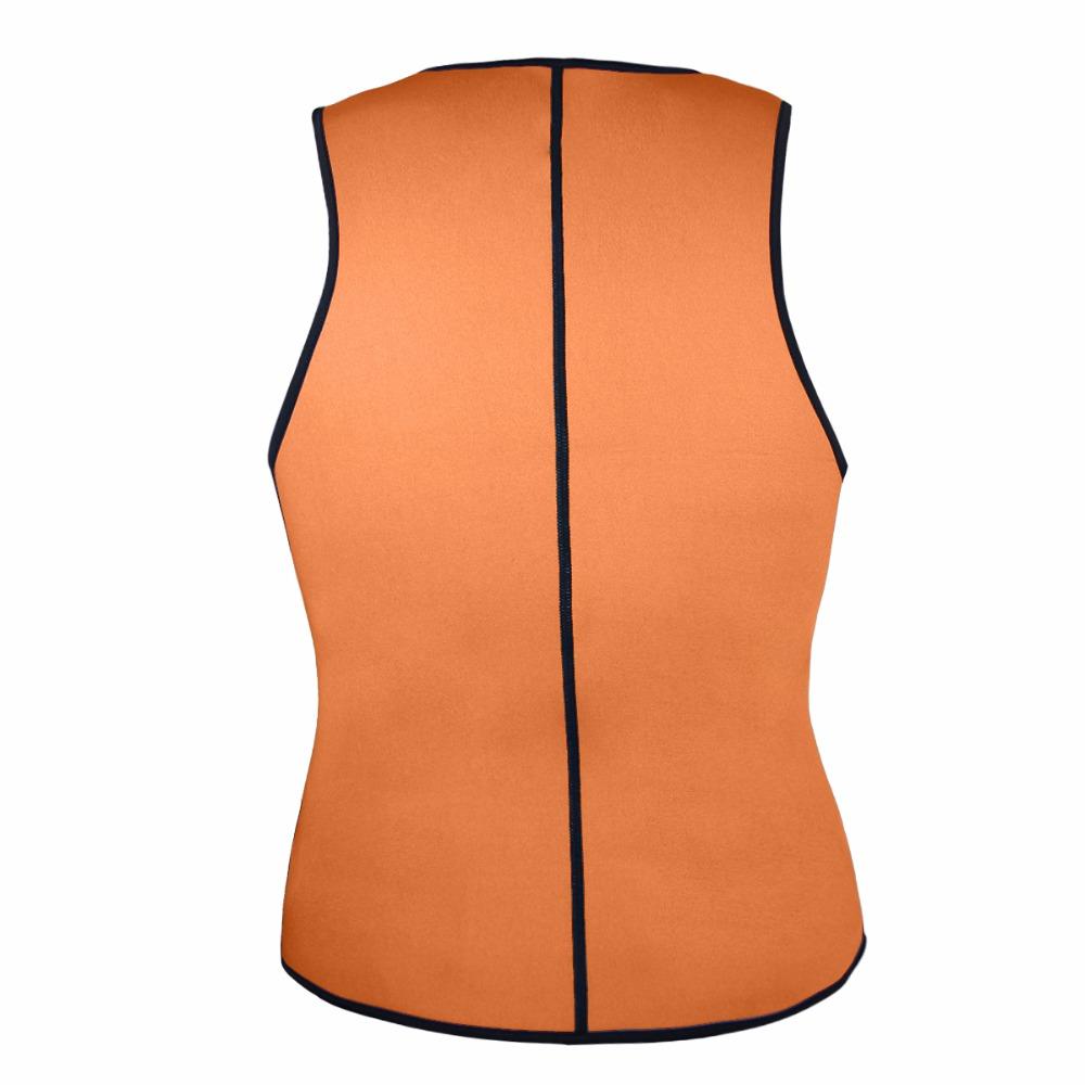 Men Latex Ultra Sweat Hot Waist Trainer Body Shaper Slimming Fit Vest Neoprene Front Zipper Fat Borning Control Top Shapewear (11)