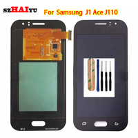 szHAIyu Tested OLED AMOLED LCD Display+Touch Screen For Samsung Galaxy J1 Ace J110F J110H J110F J110FM LCD Display