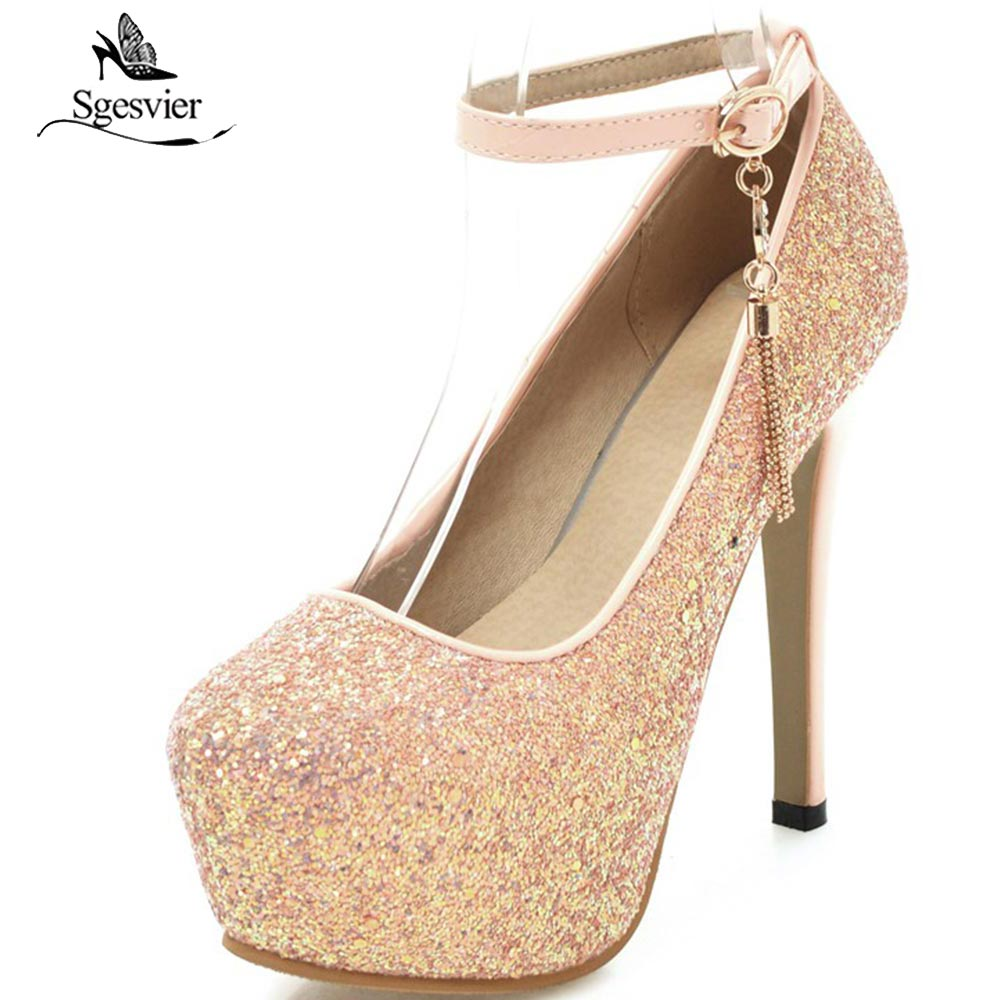 SGESVIER 2018 Women Shoes High Heels Fashion Platform Sexy Pumps Party Ladies Dress Shoes Thin Heels Brand Women Shoes OX221 fashion super 16cm heels sexy platform women shoes high heels brand new thin heels party wedding shoes women pumps