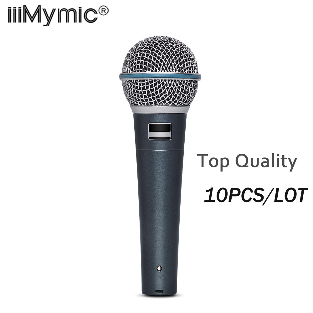 10PCS LOT Top quality Capsule and Heavy Body BT 58 Clear Sound B 58A Handheld Vocal