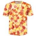 Мода одежда женщины мужчины Гавайская Пицца O-образным Вырезом Футболки 3d топы все-над печатными футболки смешные футболки летом повседневная футболка