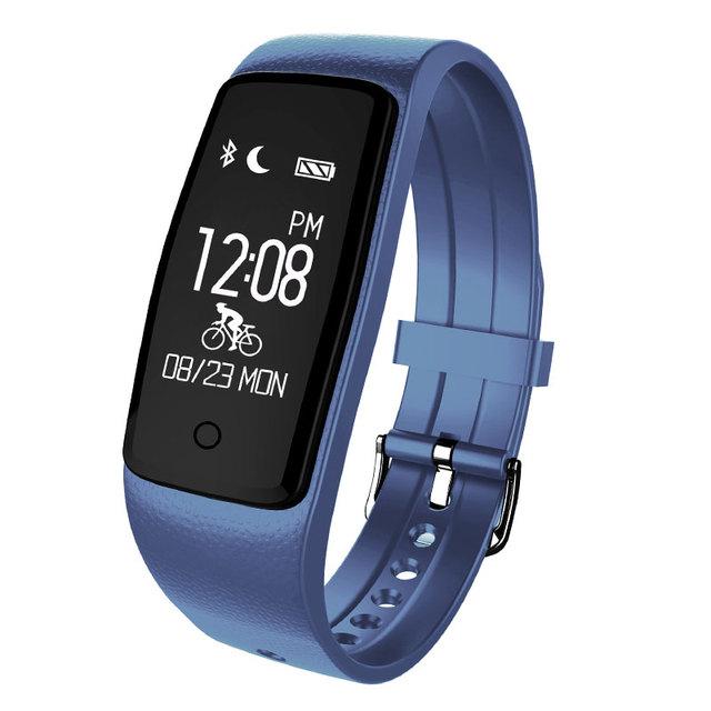 Whatsapp Pantalla Contenido Inteligente Pulsera Muñequera Rastreador De Fitness Deportes de Ritmo Cardíaco Reloj Pasómetro para IOS Android Banda de Ajuste