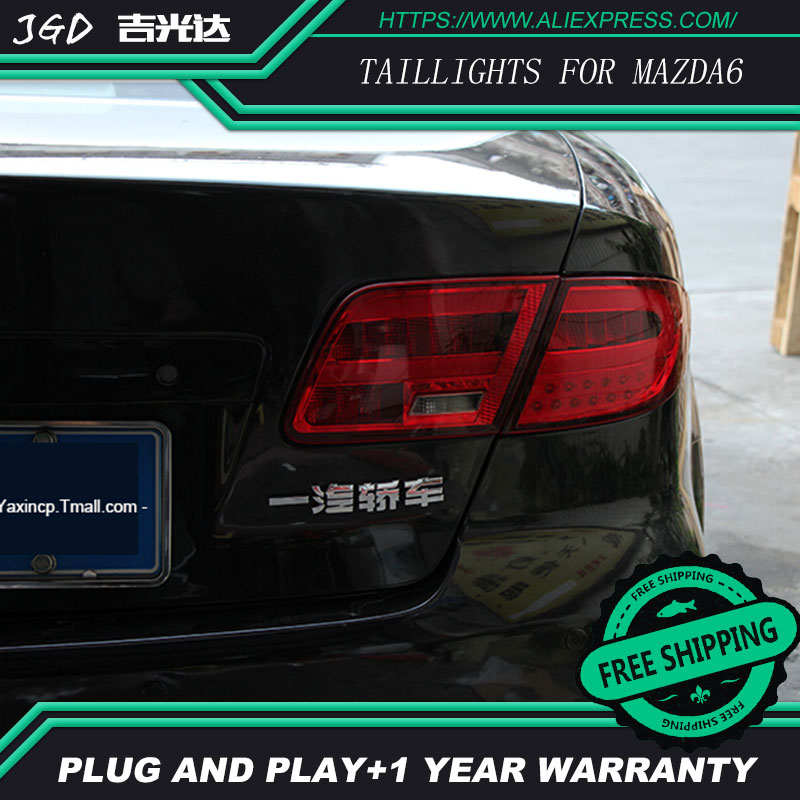 Car Styling tail lights for Mazda6 M6 Mazda 6 2004-2013 LED Tail Lamp rear trunk lamp cover drl+signal+brake+reverse