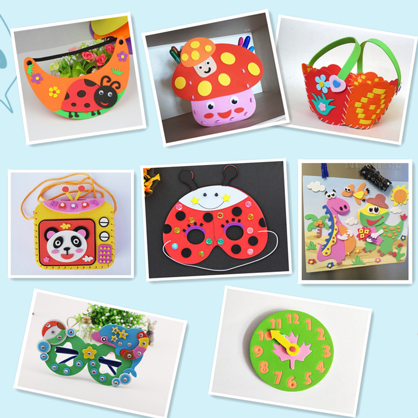 Super Sale Happyxuan 8 Designs Lot Kids Diy Art Craft Kits