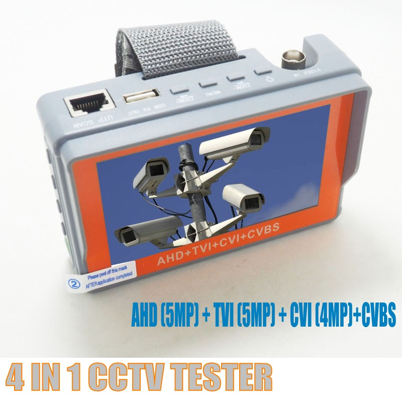 Image 3 - Portable 4 IN 1 AHD CVI TVI CVBS Camera Tester IV7W 4.3 Inch LCD 5MP CCTV Tester Monitor Support PTZ controller UTP cable test-in Transmission & Cables from Security & Protection