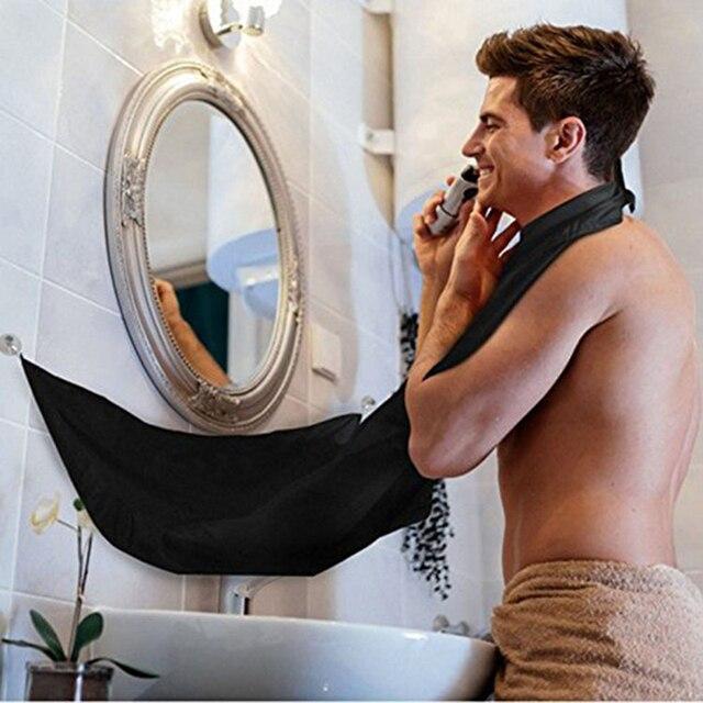 Hot Barba Maschile Grembiule Uomo Bagno Nero Barba Bianca Cura Trimmer Capelli R