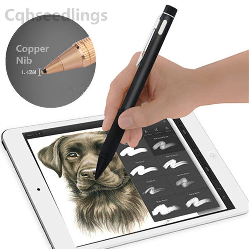 High Precision Active Stylus for Capacitive Screen Touch Pencil for ipad Touch Screen Pen for iphone drawing Writing for Android mini capacitive touch screen stylus pen w anti dust plug for iphone ipad ipod black