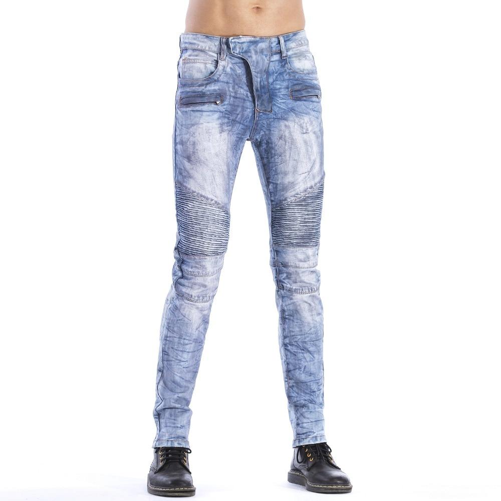 Del Dei Maschile Il Denim Modo Disegno 2019 Sesso Sottile Pantaloni Uomini  Formato 1723 Biker Elasticità Degli Di Jeans ... 215a899445ed