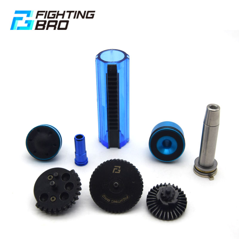 M4 Ver 2 AEG Airsoft accessories Super Silent Gear Piston head Spring guide Nozzle Cylinder 13