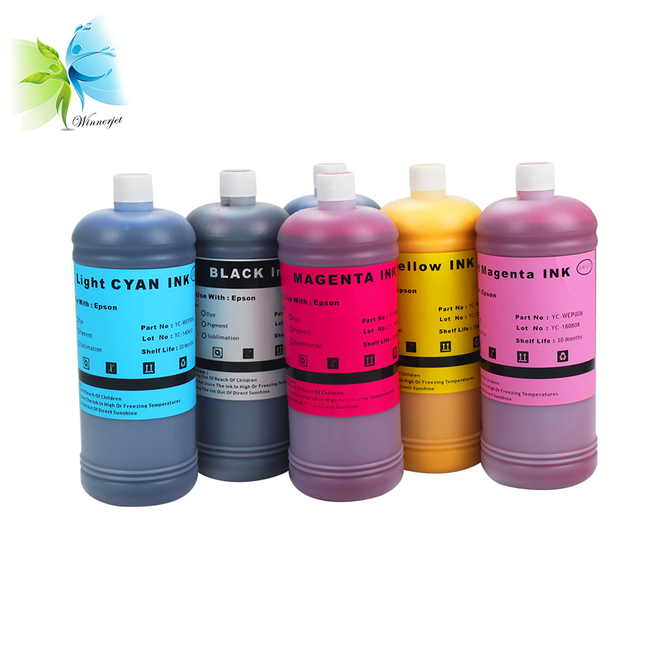 Winnerjet 1000ml Refill pigment Ink for Epson L1800 printer empty ink cartridge with 6 colors in Ink Refill Kits from Computer Office