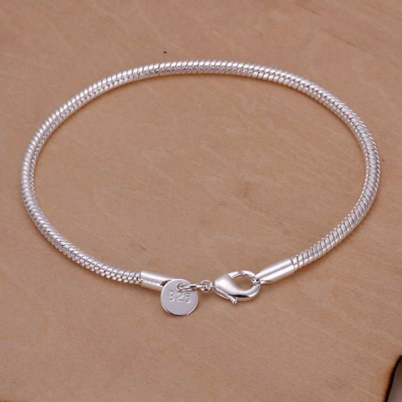 New Silver Plated Jewelry Silver Plated Cuff Chain Charm