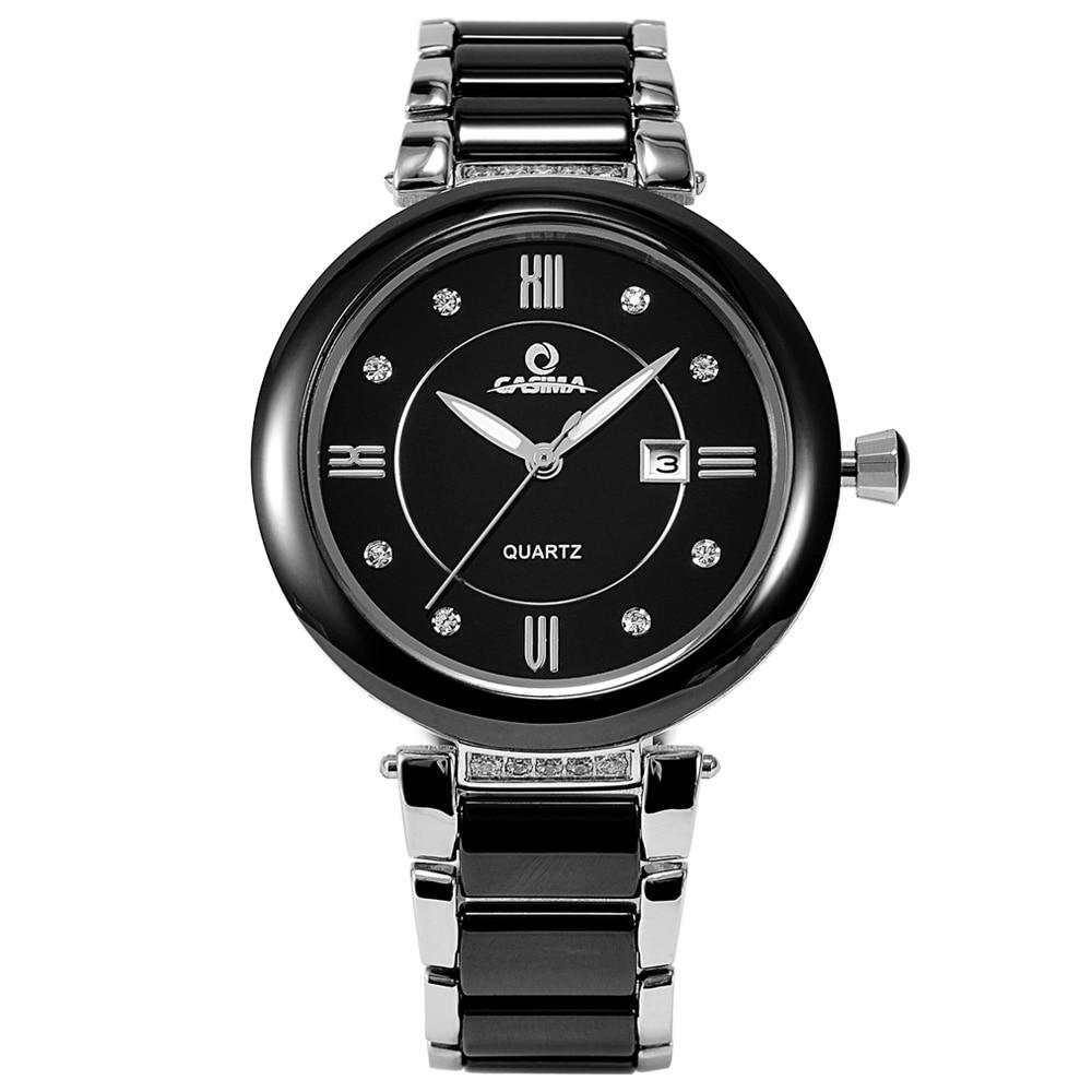 ФОТО Watch brand fashion simple diamond watches casual charm ceramic quartz  women's watches luminous  waterproof 50m  CASIMA#2608