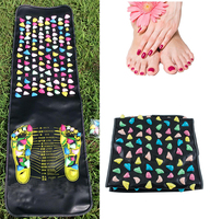 Reflexology Walk Stone Pain Relieve Foot Massager Acupoint Mat Acupressure 175CM*35CM