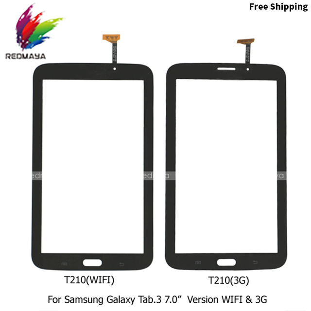 "5pcs/lot For Samsung Galaxy Tab 3 7.0"" SM-T211 Digitizer Touch Screen Outer Glass Panels Front Replacement Repair Phone Parts"