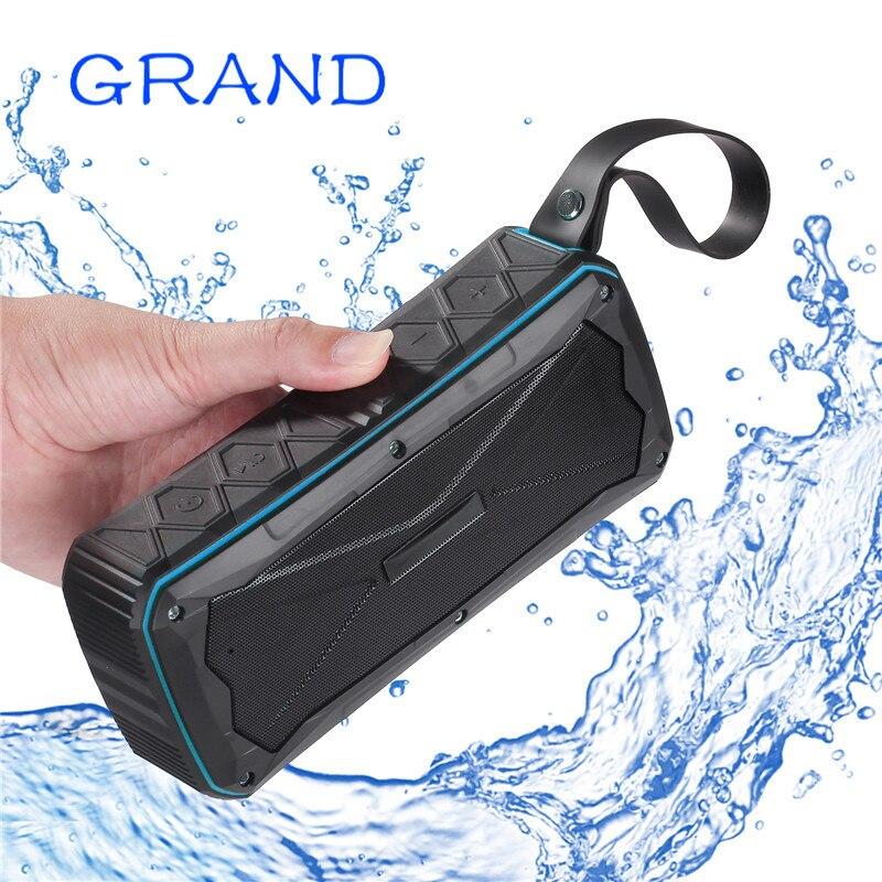 Sans fil Bluetooth 4.1 S610 haut-parleurs stéréo portables d'extérieur IP67 étanche intégré double pilote TFcard Slot GRAND