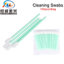 100pcs/pack NonWoven Cotton Swabs Dust-free Anti-static Cleaning Q-tips For Fiber Laser Machine Focus Lens Protection Windows