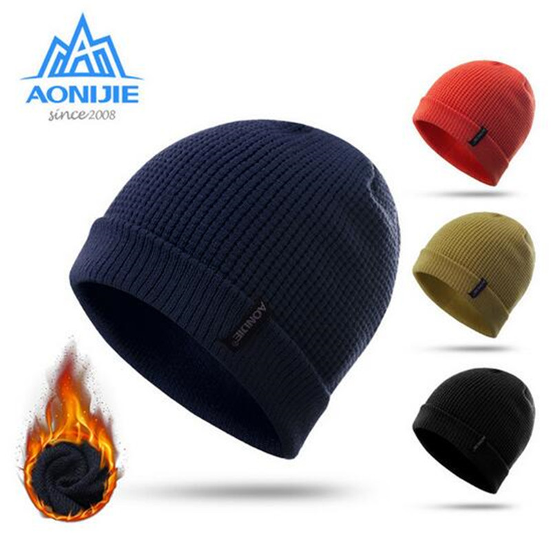 Dutiful Aonijie Winter Windproof Running Cap Winter Warm Sports Knitted Hats Outdoor Sports Snowboarding Cap Men Women