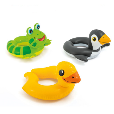 Animal Duck Frog Christmas Lovely Kids Child Swim Ring On Holiday Floating Summer Seat Inflatable Swimming Water Pool Tube