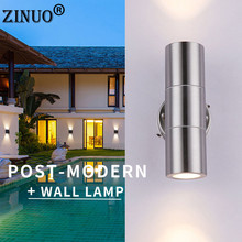 ZINUO Led Wall Light 6W 800LM Stainless steel Lamp Up and Down Porch Lights Bracket for Indoor Outdoor