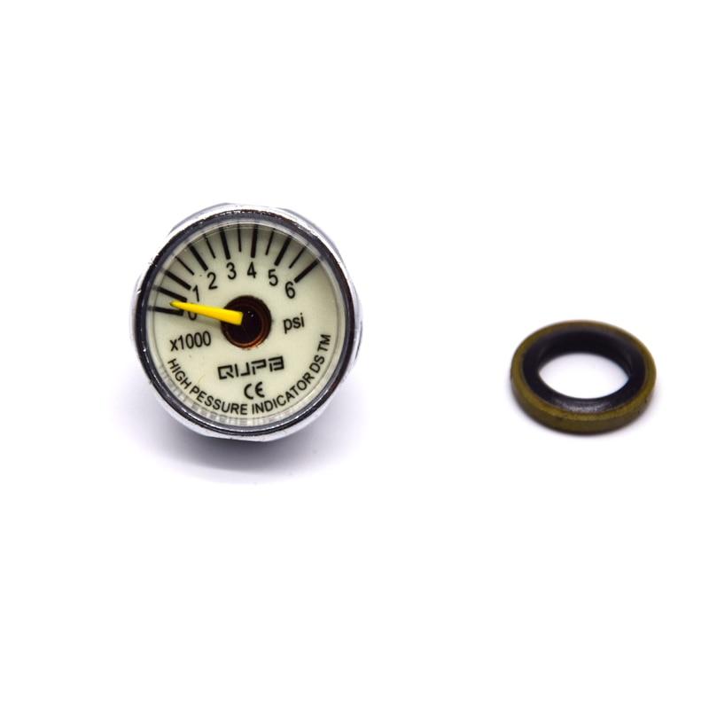 High Pressure Gauge 1 Inch MINI Manometer Luminous 40MPA/300BAR/400BAR/5000PSI/6000PSI