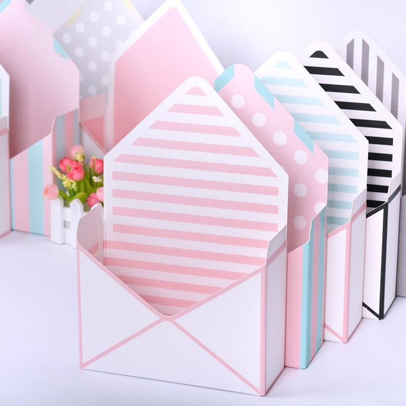10PCS 20x7x14.5cm Mini Envelope Type Box Creative Korean Flower Bouquet Floral Hand-folded Gift Box Flower Box Free Shipping