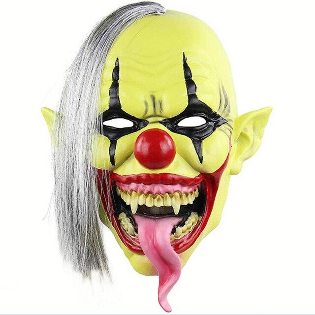 Halloween Maschere.Us 11 99 Verde Viso Joker Maschera Prop Del Partito Di Dancing Di Halloween Maschere Horror Trentadue Denti Costume Del Pagliaccio Del Partito