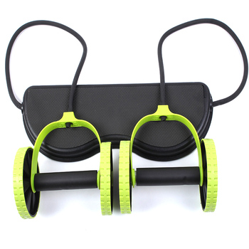 AB Wheels Roller Stretch Elastic Abdominal Resistance Pull Rope Tool AB roller for Abdominal muscle trainer exercise 8