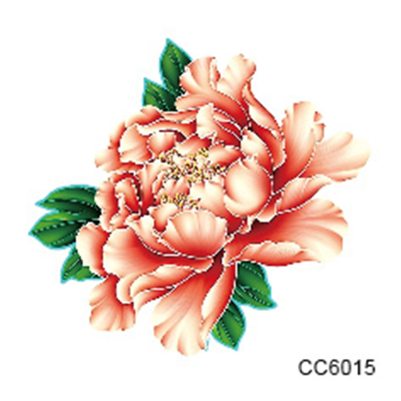 Mini Body Art Waterproof Temporary Tattoos For Women Individuality Flower Design Flash Tattoo Sticker CC6015