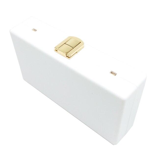 Boutique De FGG LOVE Letters Women Black Acrylic Box Clutch 5