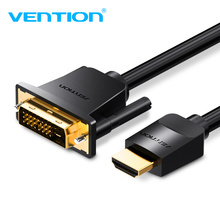 Vention HDMI To DVI Cable DVI-D 24+1 Pin Support 1080P 3D High Speed HDMI Cable For LCD DVD HDTV XBOX Projector PS3 1m 2m 3m 5m