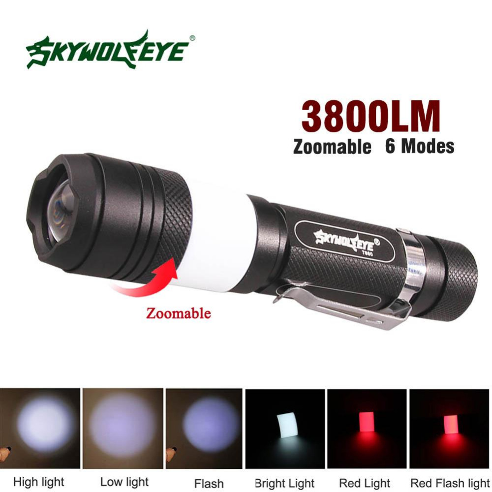 Led Flashlights High Brightness 3800 Lumens Cree Xml L2 Led Flashlight Lamp Torch Aluminum Tactical Flash Light For Camping 18650 Usb Cable Lights & Lighting