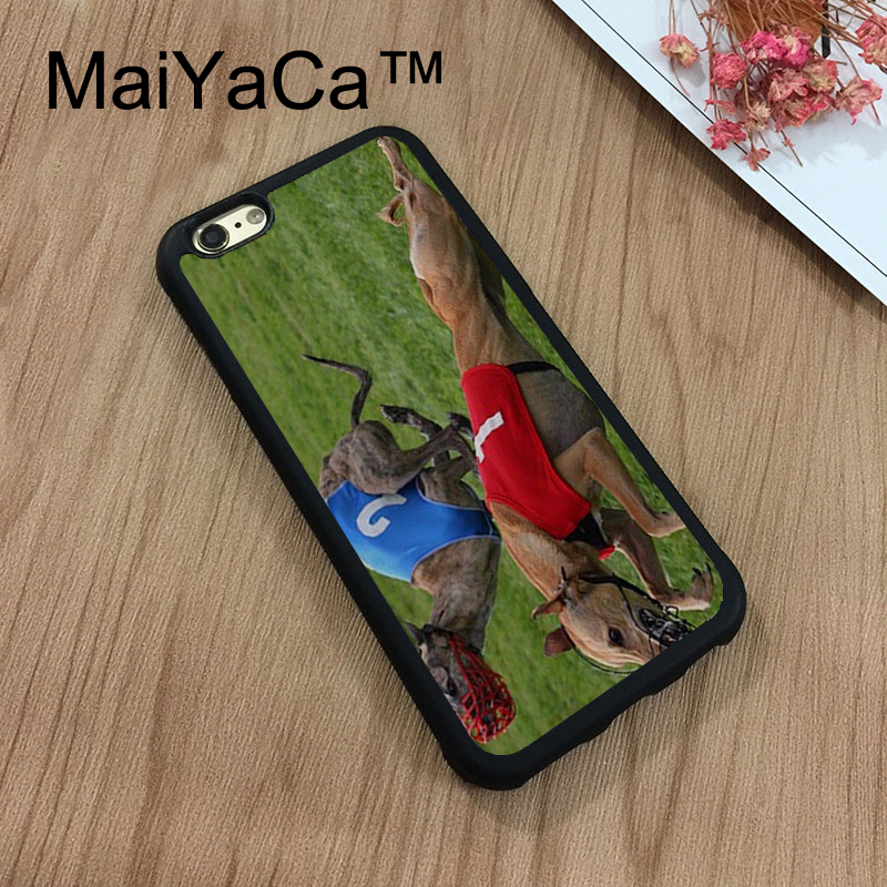 MaiYaCa Greyhound Dog Racing Dogs Soft TPU Case For Apple iphone 7 Capa Coque Rubber Phone Case For iphone 7 Phone Bag Cover