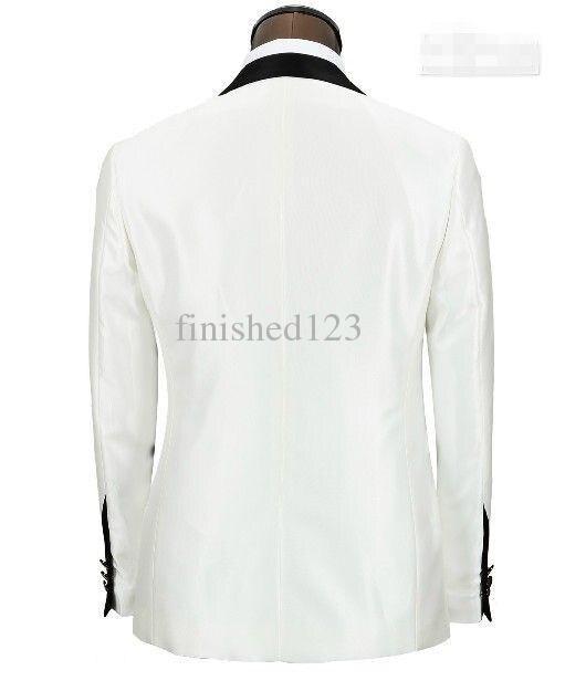 Custom Same As Avec Mariage veste Collier Tie Costume Noir Image Made 2016 Bow Smokings Formelle Pantalon Costumes Bal Ivoire De Marié Homme dRFwnAHx
