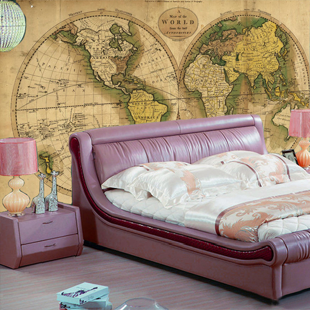 Beibehang custom wallpaper printing home wall decor picture retro beibehang custom wallpaper printing home wall decor picture retro world map wallpapers for 3d retro photo gumiabroncs Choice Image
