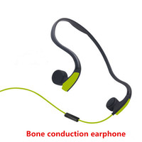 Bone Conduction Transmit Headsets Wired Earphone Outdoor Sports Headphones Noise Reduction Hands Free With Mic For