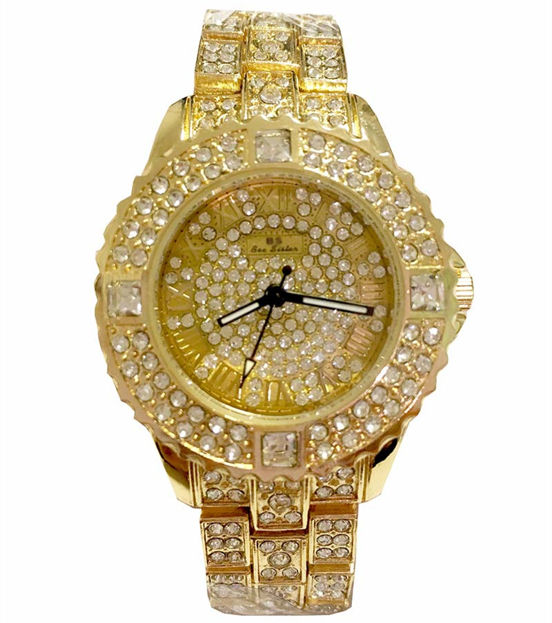 2014 nowych kobiet rhinestone zegarki sukienka ze stali kobiet - Zegarki damskie - Zdjęcie 5