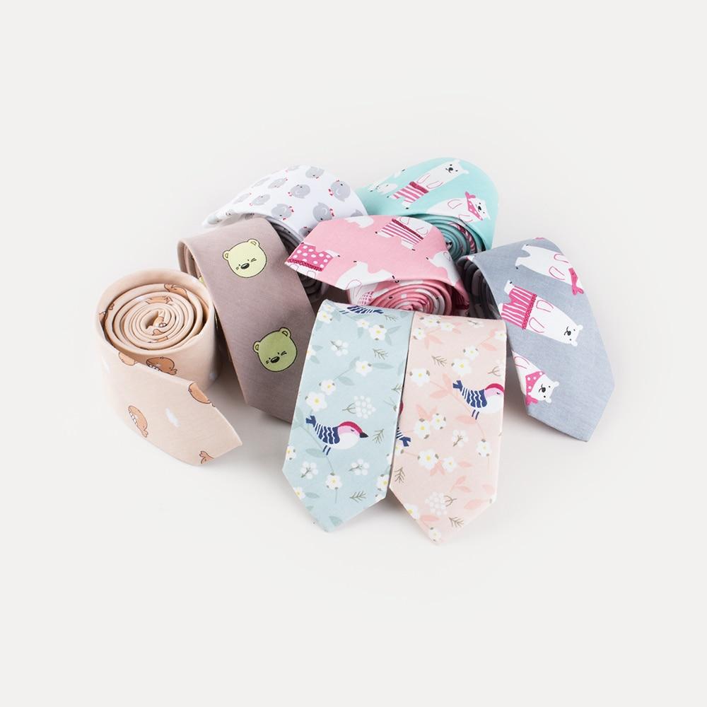 Cute Neck Tie Casual Apparel Accessory Mens Ties Cartoon Style Animal Bear Bird Butterfly Cotton Bowtie Stropdas