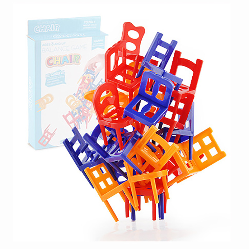 18/24 PCS Balance Chair Puzzle Board Game Family/Party Best Gift For Children Funny Colorful Game Without