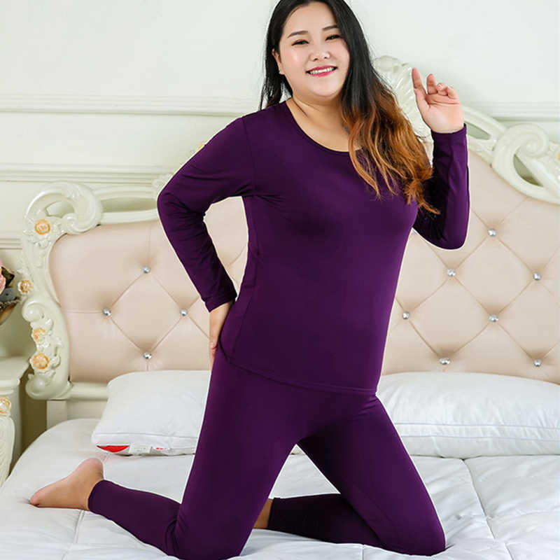 981479c32ea6 Women's Thermal Underwear Set Cotton Plus Vevet Long Johns Women Winter  Fleece Warm Long Johns Plus