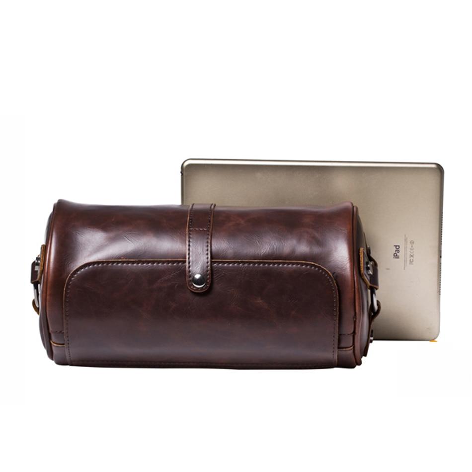 Shoulder Bags Men Bag Leather Messenger Bag  Man's Famous Business Bag Dollar Prices Barrel-Shaped