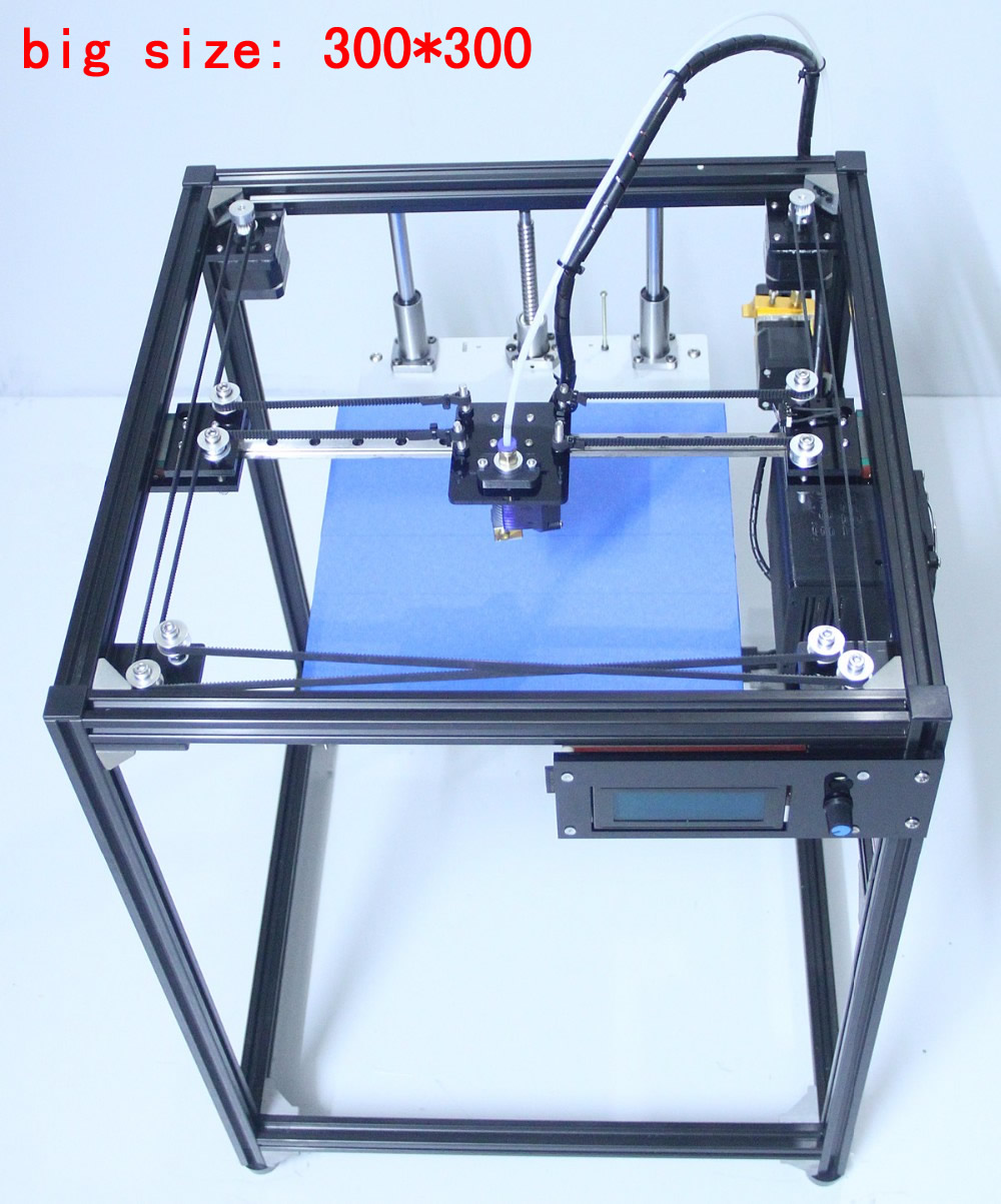 ifancybox 3 XXL single extruderDIY corexy 3d printer Kit  big size linear guide aluminum Frame dual color extruder 3d printer flsun 3d printer big pulley kossel 3d printer with one roll filament sd card fast shipping