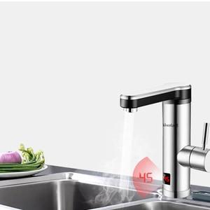 Image 2 - 220V Máy Nước Nóng Cho Nhà Bếp Phòng Tắm Ngay Tankless Làm Nóng Tập Máy Nước Nóng Vòi Nước Nóng Nhanh Có Đèn Led