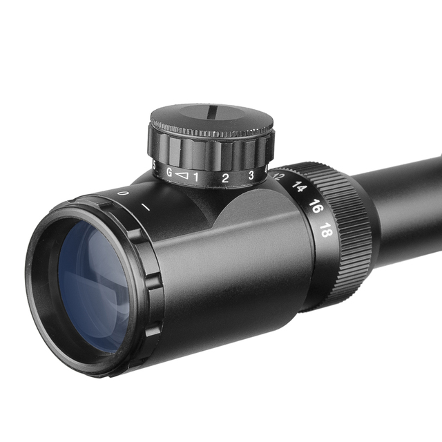 DIANA AOE 4.5-18X50 Riflescope Adjustable Green Red Dot Cross Sight Hunting Scope Light Reticle Optical Tactical Scopes 4