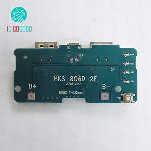 Image 3 - Módulo carregador de bateria, 5v 1a 2a, power bank, impulsionador de carga, placa de circuito pcb, diy, dual usb powerbank de led de saída,