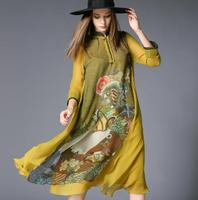 Chinese Wind Europe And The United States High End Imitation Silk Mori Girl Full Dress