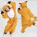 Venda quente! Chegada nova Inverno Unisex Onesie Animais Pijama Cosplay Pijama Animal Adulto Pijamas Onesie Raposa