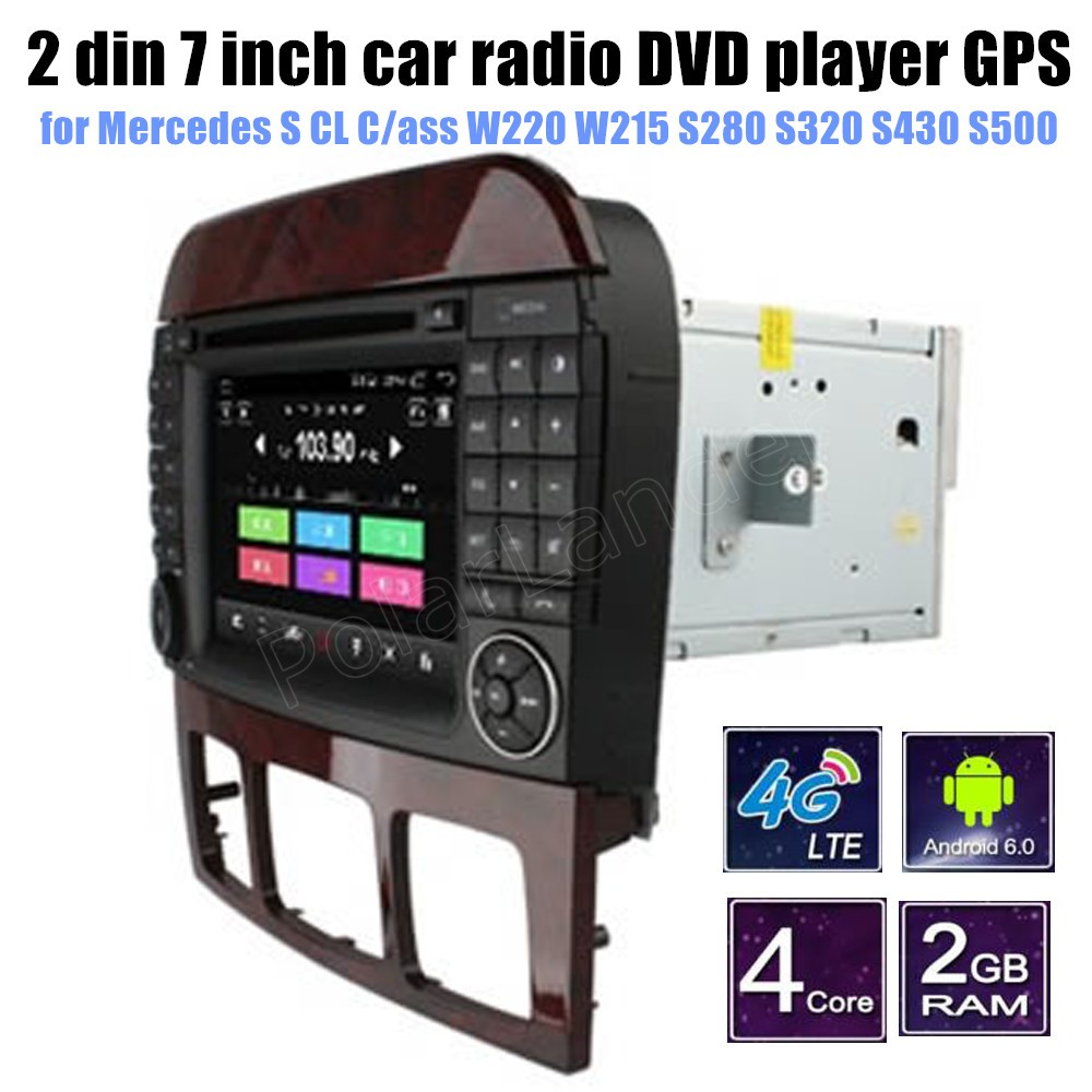 Android 6.0 CAR DVD player for Me/rcedes B-ENZ S CL C/ass W220 W215 S280 S320 S430 S500  ...