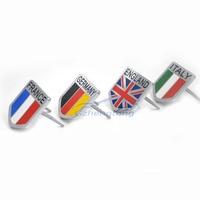 3D Stop Metali Strzał Klub Logo Grille Grille Emblem Logo dekoracji Naklejki Z Przodu Kaptur Grille Odznaka Dla USA Francja Niemcy anglia