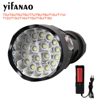 Ultra Bright LED Flashlight Powerful Lamp 26650 18650 LED Searchlight Torch Lanterna Rechargeable Camping Hunting Bike Light